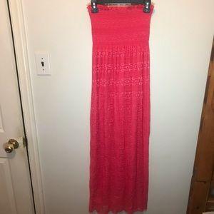 Espresso Pink Strapless Dress